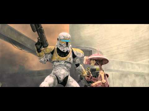 Star Wars: The Clone Wars - Clone Commando Gregor Vs. Battle Droids [1080p]