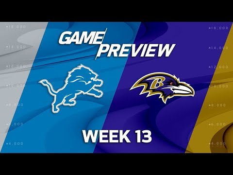 Video: Detroit Lions vs. Baltimore Ravens | NFL Week 13 Game Preview | Move the Sticks