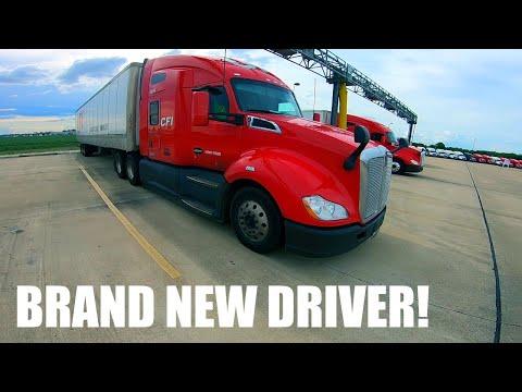 Brand new ROOKIE truck driver truck tour!  Kenworth T680