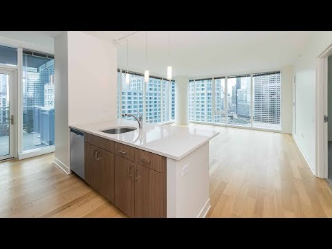 A southwest corner 2-bedroom, 2-bath at Streeterville's North Water tower