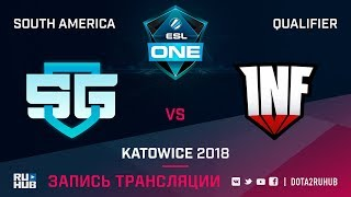 SG e-sports vs Infamous, ESL One Katowice SA, game 2 [Autodestruction, Mortalles]