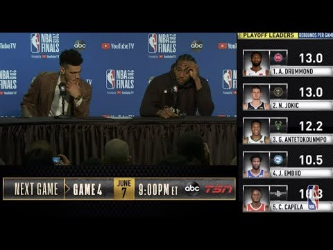 Kawhi Leonard & Danny Green Press Conference | NBA Finals Game 3