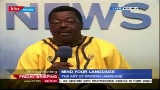 MIND YOUR LANGUAGE 13th November 2015 Exploring pronunciation of words