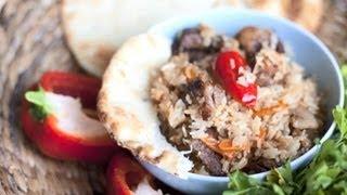 Pilaf met rundvlees en rijst