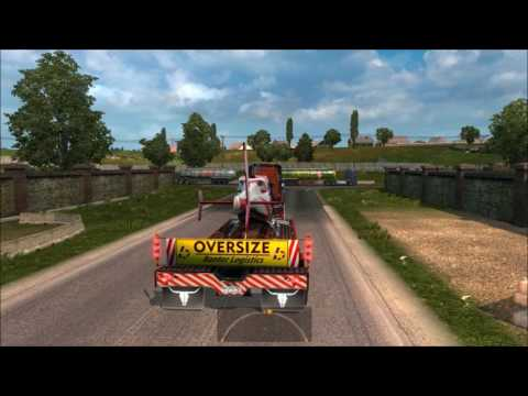 Overweight trailer pack v2 for ETS2 1.24