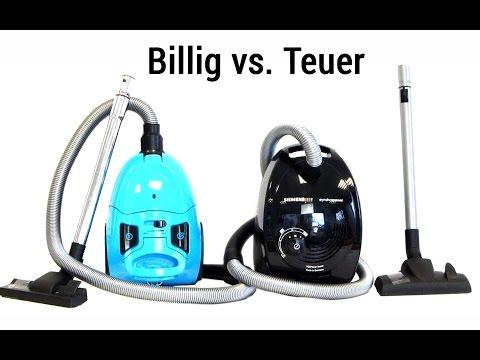 Billig vs. Teuer - Zwei Staubsauger im Vergleichstest - Deutsch / German ►► notebooksbilliger.de