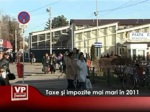 Taxe şi impozite mai mari în 2011