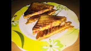 Cheese Sandwich Recipe | Onion Tomato Sandwich | Breakfast Quick Recipe | Kids Lunch Box Recipe |