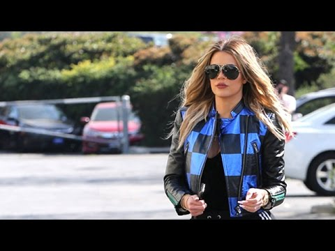 Khloe Kardashian Races Over To Rob's Birthday