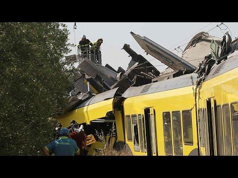 Ιταλία: Τουλάχιστον 20 νεκροί από μετωπική σύγκρουση τρένων