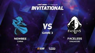 Newbee vs Faceless, Game 3, SL i-League Invitational S2 LAN-Final, Group B