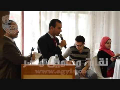 محامية بورسعيد تعبر عن نفسها فى مؤتمر شباب المحامين