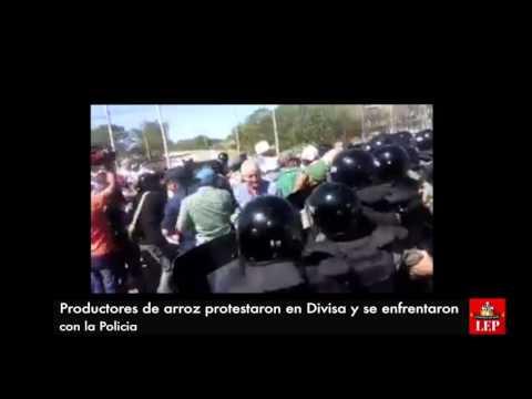 Productores agropecuarios se enfrentan con la Policía en Divisa