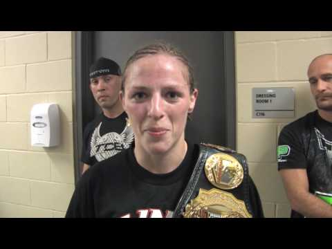 Sarah Kaufman Post Fight after slam  As soon as she came down, I knew she was out