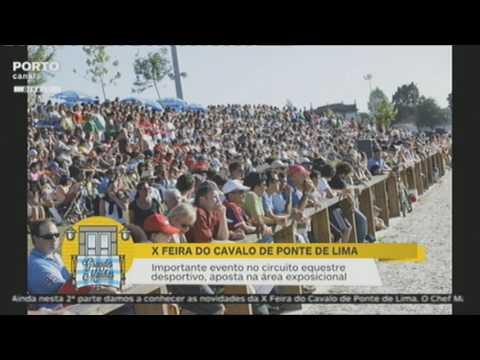 Reportagem do Porto Canal do programa 'Grandes Manhãs' sobre a X Feira do Cavalo de Ponte de Lima