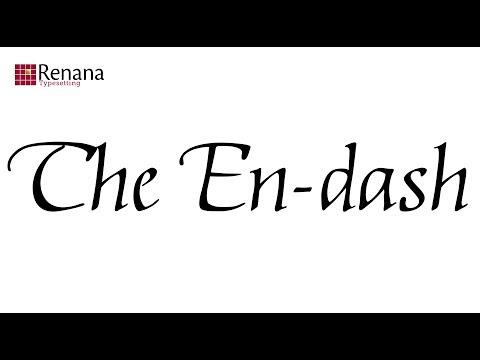 the en dash (видео)