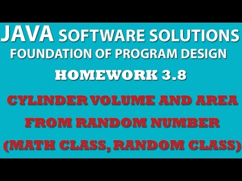 Java Calculating Volume and Area of Cylinder (Ex 3.8) Using Java Math Class