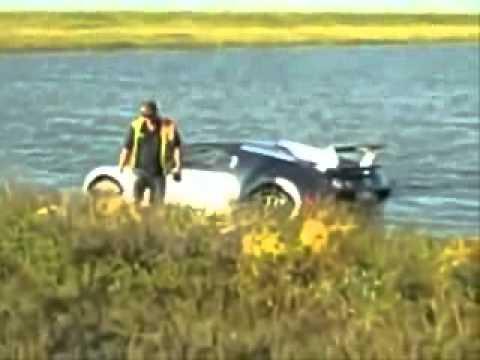 Bugatti Veyron утопили в озере