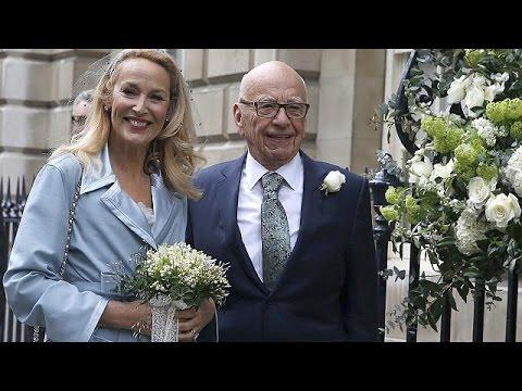Βρετανία: Θρησκευτική τελετή για το γάμο Ρούπερτ Μέρντοχ- Τζέρι Χολ