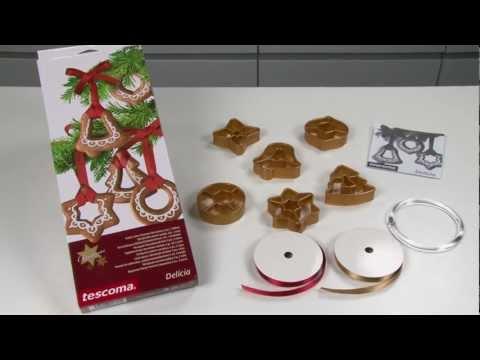 Видео Формочки для печенья из пластмассы Tescoma Формочки Рождественские украшения DELICIA, 6 шт. Tescoma 630916