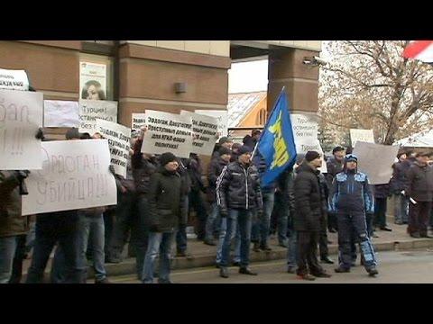 Επίθεση στην πρεσβεία της Τουρκίας στη Μόσχα από διαδηλωτές