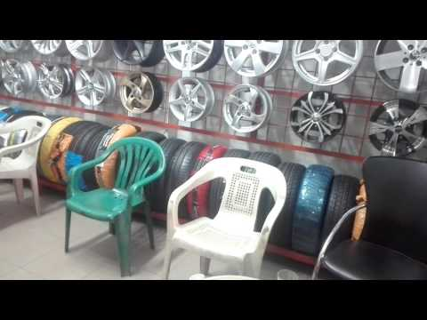 Alloy wheels shop at railway station Lahore