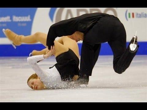 Worst of Figure Skating Couple Falls видео