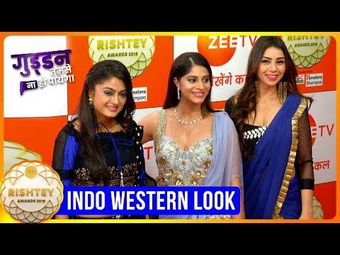 Guddan Tumse Na Ho Payega Cast INDO WESTERN LOOK