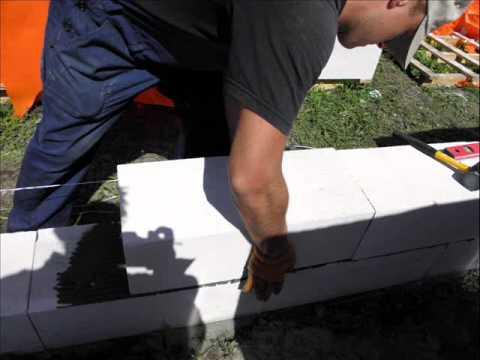 Как построить дом своими руками с газоблока 1 часть.