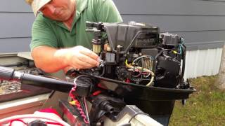 Replace water pump on a 2005 25 hp mercury outboard motor