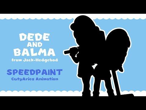 SpeedPaint - Dede and Balma (Jack-Hedgehod)