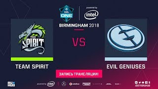 Spirit vs Evil Geniuses, ESL One Birmingham, game 1 [Lum1Sit, 4ce]