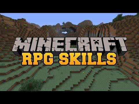 Minecraft: RPG SKILLS (Train and level up your skills!) Mod Showcase