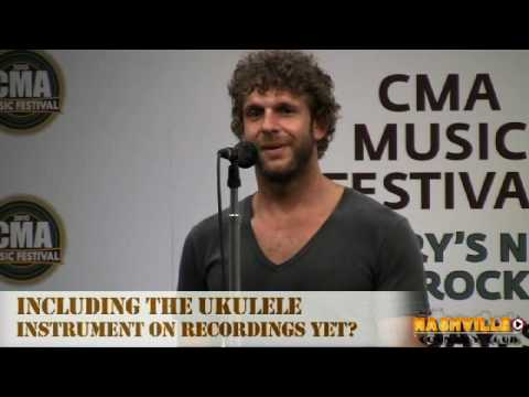 Billy Currington Backstage at CMA Fest 2010