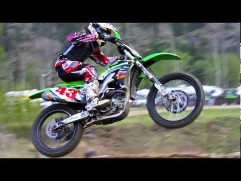 Motocross Racing CnC Crash Co #12 Trevor Pearson KX250F Moto Cross AMA
