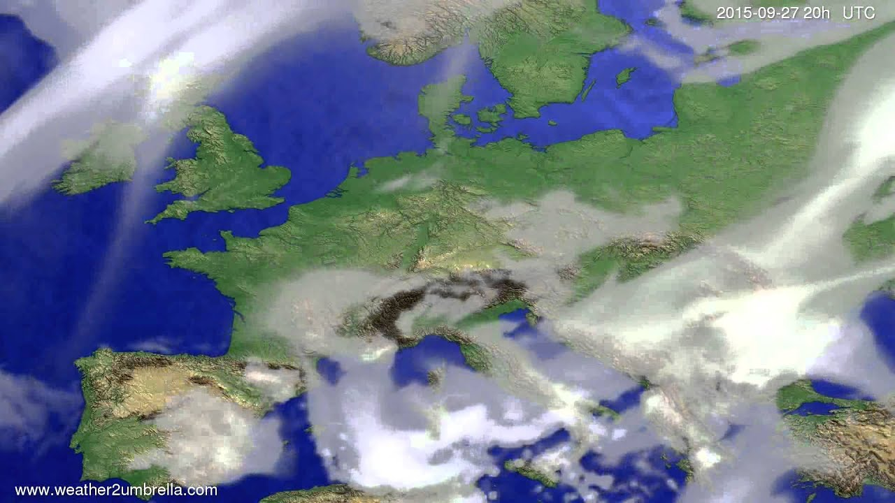 Cloud forecast Europe 2015-09-24