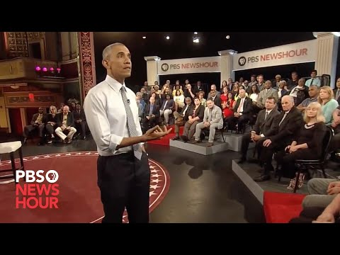 Why restrict 'good' gun owners, resident asks President Obama at town hall (видео)