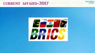 BRICS is the acronym for an association of five major emerging national economies: Brazil, Russia, India, China and South Africa. As of 2015, the five BRICS countries represent over 3.6 billion people, or half of the world population; all five members are in the top 25 of the world by population, and four are in the top 10.The most recent BRICS summit took place in Goa, India, from 15 to 16 October 2016