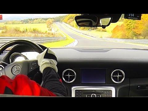 Mercedes SLS on Nurburgring