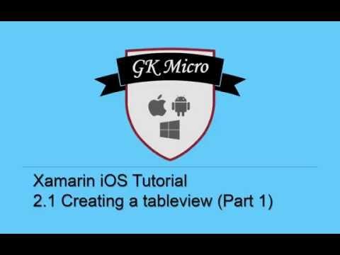 Xamarin IOS Tutorial 2.1 - How To…