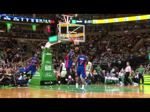 Caldwell-Pope Sweet Assist Off the Backboard to Drummond