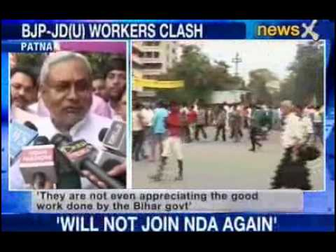 workers; - NewsX: The violence started when BJP workers went about trying to enforce the bandh called to mark what they call