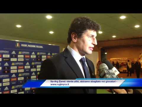 Alessandro Zanni al termine di Italia vs Argentina