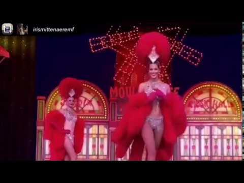Iris Mittenaere in Moulin Rouge Costume