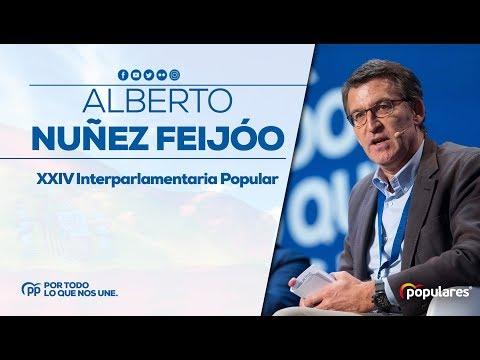 Alberto Nuñez Fiejóo en la XXIV Interparlamentaria Popular