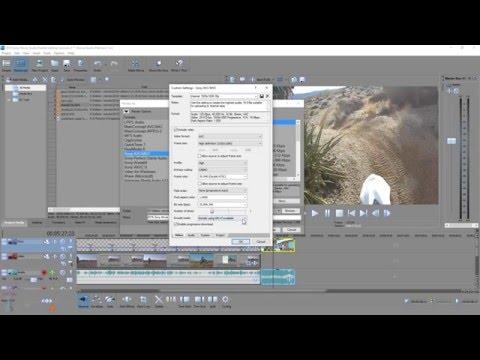 2016 Render Settings for YouTube using Sony Movie Studio 13 / Vegas