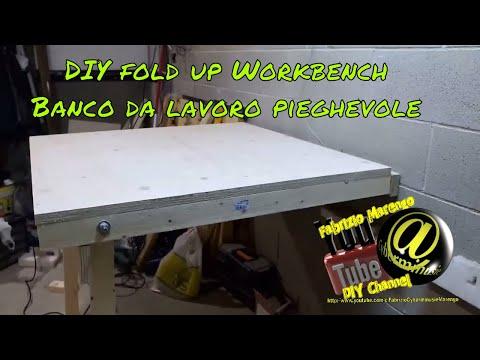 Banco da lavoro Ripiegabile fai da te ( how to build DIY Fold down workbench )