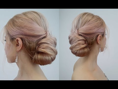 Easy hairstyles - QUICK AND EASY HAIRSTYLE ELEGANT BUN IN MINUTES  Awesome Hairstyles