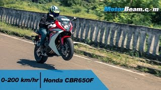 8. Honda CBR650F 0-200 km/hr & Top Speed | MotorBeam