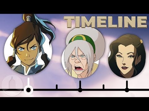 The Complete Legend Of Korra Timeline | Channel Frederator